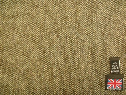 100% Wool Shetland Tweed Herringbone Fabric  AZ50